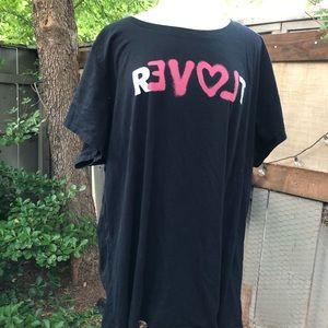 Torrid 100% cotton love revolt tee t-shirt 5X